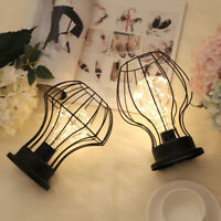 Creative Retro Diamond Style Iron Desk Table Lamp Bedside Night Light Decor Gift