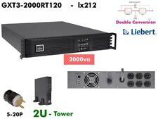 lx212~ Liebert GXT3 Online 2000va UPS 120v GXT3-2000RT120 Sine Wave  #NewBatts