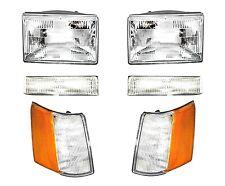 Headlights Headlamp & Parking Corner Lights Left & Right 97-98 Grand Cherokee