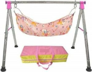 Premium Indian Style Ghodiyu Baby Cradle free hanging Stainless steel structure