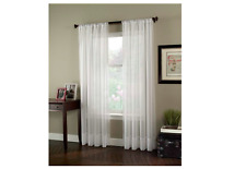 "Curtainworks Soho Voile Sheer Curtain Panel 59 by 95"" Winter White Soho Voile"