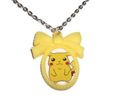 Pikachu Collar, Lindo Amarillo Cameo, joyas de Pokemon Kawaii