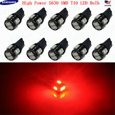JDM ASTAR 10pc T10 Red 5630 SMD High Power LED Lights Bulbs 194 168 2825 W5W 175