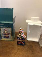 Traditions Porcelain Hinged Keepsake Decorative Box Christmas Teddy Bear Toys