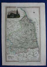 Original antique county map, NORTHUMBERLAND, Pigot & Co., c.1840