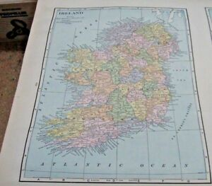 1933 Map Of Ireland From The Commercial Atlas of the World