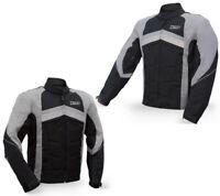 Mens Motorcycle, Motorbike Waterproof Cordura Textile Jacket with Armours