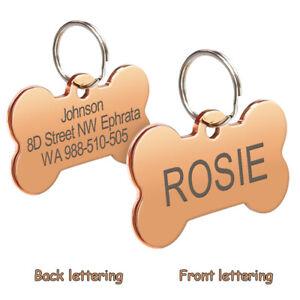 personalizzata Medaglietta per cani e gatti  a forma di osso Etichetta del disc