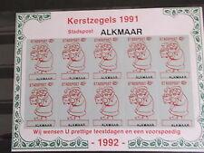Nederland Stadspost   kerst christmas Alkmaar velletje  postfris/mnh