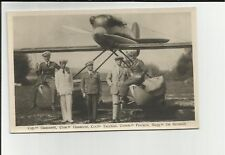 CARTOLINA fotografica idrovolante da record aviazione