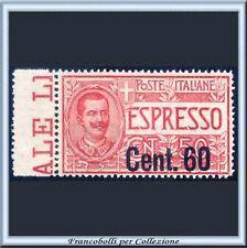 1922 Italia Regno Espresso Soprastamp. n. 6 Centrato **