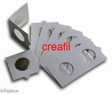 400 Cartones para monedas CON SOLAPA. Diámetros a elegir. BEUMER*.Calidad Super