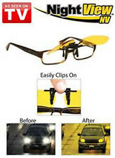 Night View Clip On Spectacle Glasses Yellow Anti glare Driving Sunglasses