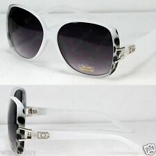DG Retro Vintage Womens Designer Sunglasses Shades Large Fashion White Square