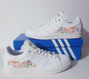 adidas Originals Stan Smith W Floral White Red Women Casual Shoes Sneaker BC0259