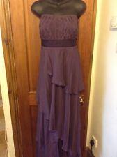 Beautiful Mauve Silk Long Evening Dress MONSOON UK 16