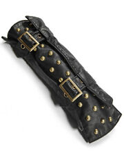 Punk Rave Steampunk Gauntlet Glove Sleeve Black Faux Leather Gothic Dieselpunk