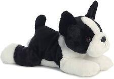 """Aurora Flopsie 12"""" Boston Terrier Buster Plush Stuffed Puppy Dog Toy #31560 NWOT"""