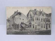 *ANTIQUE LA GRANDE GUERRE 1914-15 PRES BELGIQUE/BOMBARDEMENT POSTCARD**