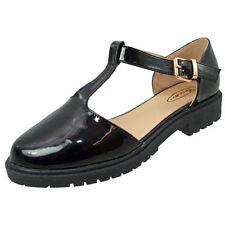 Patternless Mary Janes Synthetic Leather Flats for Women
