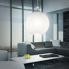 Design Decken Lampe Pendel Hänge Leuchte rund Kugel Glas weiss Schlaf Zimmer
