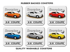 79' 81' MITSUBISHI SCORPION 2.6  SIGMA  SET OF 6 QUALITY RUBBER DRINK COASTERS
