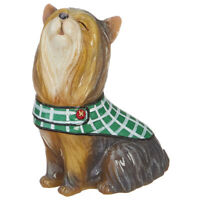 RAZ Imports Christmas Dog Figurine - Howling Terrier in Winter Blanket - 4 inch