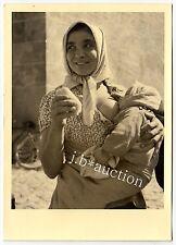 Romania ? BREASTFEEDING MOTHER / STILLENDE MUTTER * Vintage 30s Ethnic Nude RPPC