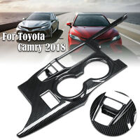 Carbon Fiber Look Inner Gear Shift Box Panel Cover Trim For Toyota Camry 2018 ,*