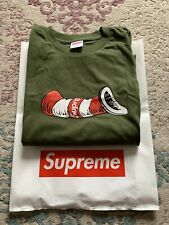 Supreme Cat In The Hat T-Shirt Olive