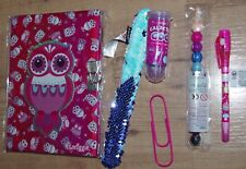 Smiggle Stationery pack Girl Lockable Diary Journal Slap Band Spy Pen Crayons