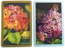PAIR SWAP CARDS. HYDRANGEA FLOWER PAINTINGS. ARTIST KATHRYN WHITE. CONGRESS