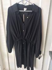 Asos Dress NWT Tie Waist Black Sz 14