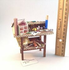 Dollhouse miniature 1/12th scale work bench by Jan Smith #10