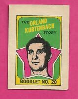 1971-72 OPC CANUCKS KURTENBACH  BOOKLET INSERT (INV# D1316)
