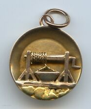Vintage Gold Pan / Gold Mine Pendant With Real 24K Gold Nuggets