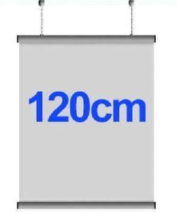 120cm Lightweight Aluminium Poster Hanger Gripper Hanging Rail Pair