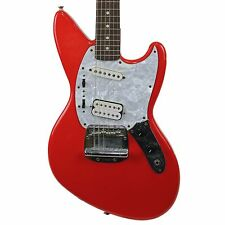 1996 Fender Kurt Cobain Jag-Stang Electric Guitar Fiesta Red Made in Japan MIJ