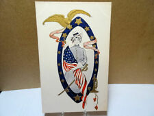 1908 Postcard Decoration Day Lady Liberty With Flag Sword Bugle & Eagle