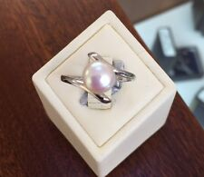 9 Carat White Gold Fine Pearl Rings