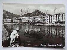 SALERNO panorama e Castello vecchia cartolina