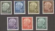 {ABC-11a} – Germania Fed. – 1956-7   T. Heuss  7 v.   ** MNH