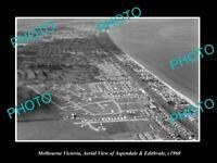 OLD LARGE HISTORIC PHOTO OF MELBOURNE VICTORIA EDITHVALE & ASPENDALE c1960