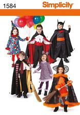 Simplicity Pattern 1584 Halloween Child Costumes Vampire Witch Cat Size 3 to 8
