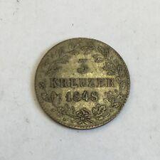 Gli Stati Tedeschi Argento Anticato Austria 3 KREUZER 1848 MONETA