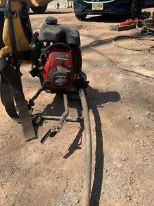Oztec BP50 Backpack Concrete Vibrator Honda 2.5hp rarely used, new Head& Shaft