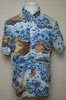 Brooks Brothers 1818 Regent Men's Large L Short Sleeve Hawaiian Button Up Shirt