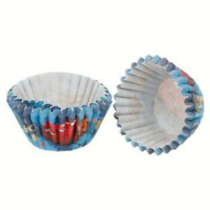 60 Mini Muffinform Muffin Cupcake Muffins Kuchen Form Backen Papier blau Cars