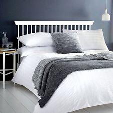 Serene - Seersucker - Easy Care Duvet Cover Set - Double, White