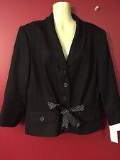 FIRST ISSUE Liz Claiborne Women's Black Suit Jacket - Size 16 - NWT